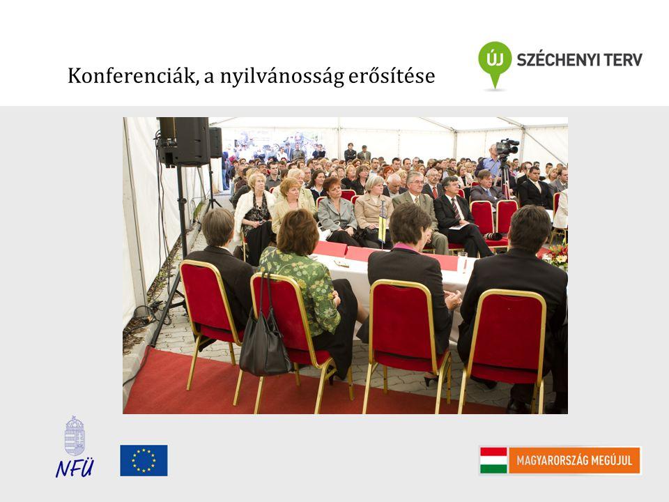 Konferenciák, a nyilvánosság erősítése