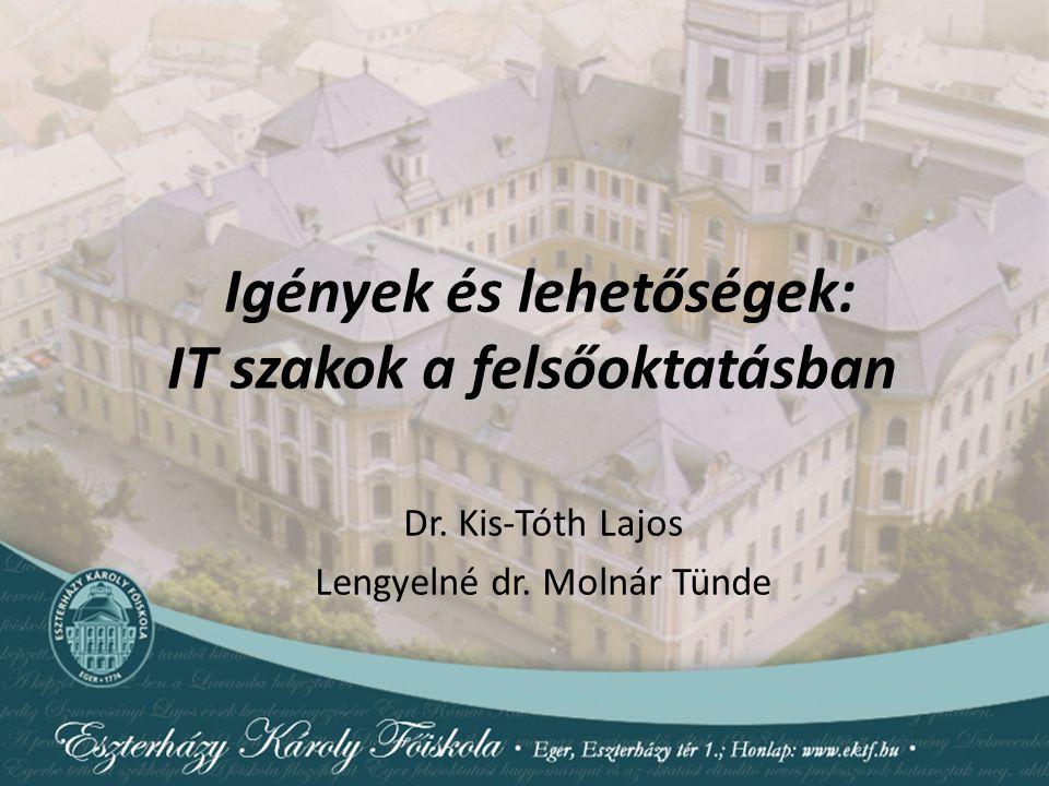 Igények és lehetőségek: IT szakok a felsőoktatásban Dr. Kis-Tóth Lajos Lengyelné dr. Molnár Tünde