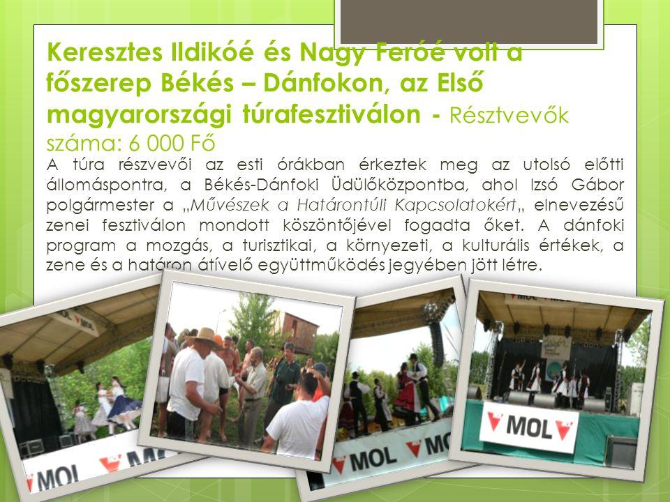 Keresztes Ildikóé és Nagy Feróé volt a főszerep Békés – Dánfokon, az Első magyarországi túrafesztiválon - Résztvevők száma: 6 000 Fő A túra részvevői