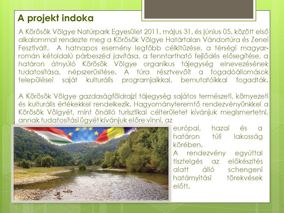 Legfőbb célkitűzéseink:  A Körösök Völgye, határon átnyúló organikus tájegység fogalmának, és elnevezésének népszerűsítése, tudatosítása;  Határtalan Turizmus a Körösök Völgyében; Közös turisztikai térség kialakítása;  Körösök Völgyének védelme.