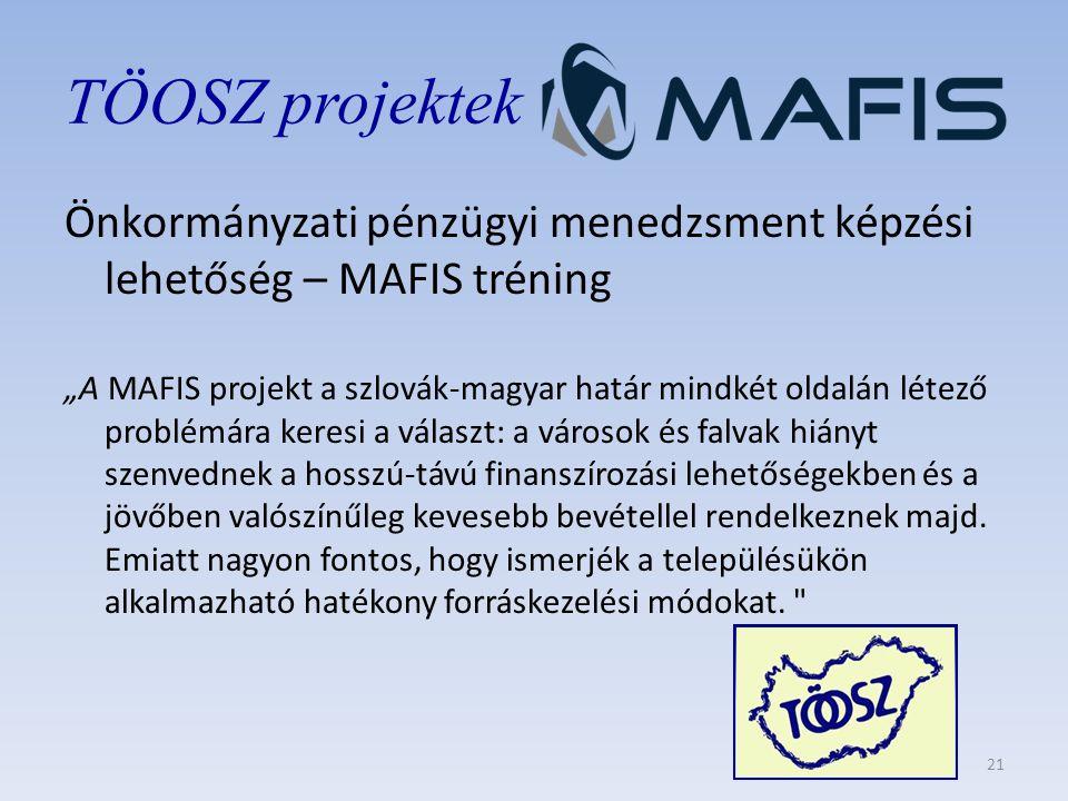 """Önkormányzati pénzügyi menedzsment képzési lehetőség – MAFIS tréning """"A MAFIS projekt a szlovák-magyar határ mindkét oldalán létező problémára keresi a választ: a városok és falvak hiányt szenvednek a hosszú-távú finanszírozási lehetőségekben és a jövőben valószínűleg kevesebb bevétellel rendelkeznek majd."""