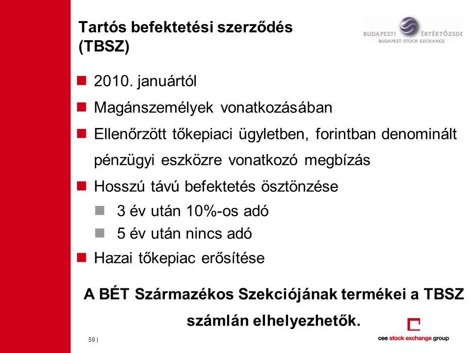 59 | Tartós befektetési szerződés (TBSZ)  2010.