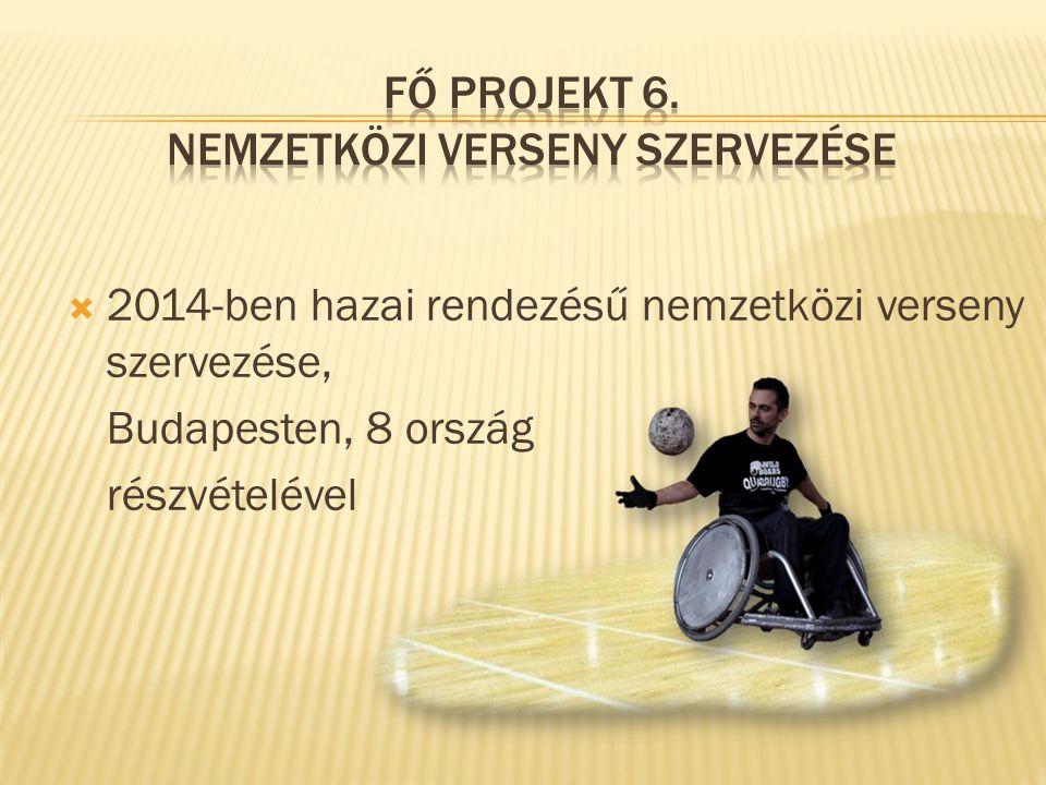  2014-ben hazai rendezésű nemzetközi verseny szervezése, Budapesten, 8 ország részvételével