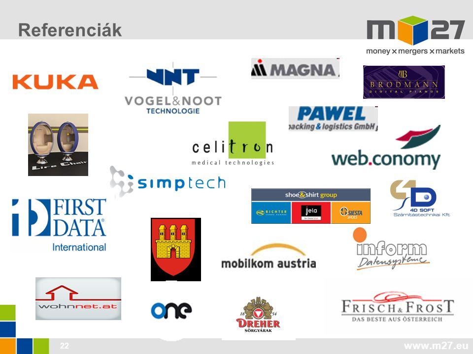 www.m27.eu 22 Referenciák