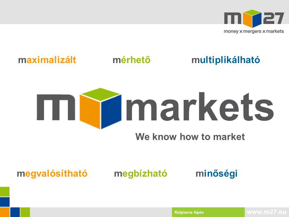 www.m27.eu Export Kooperáció