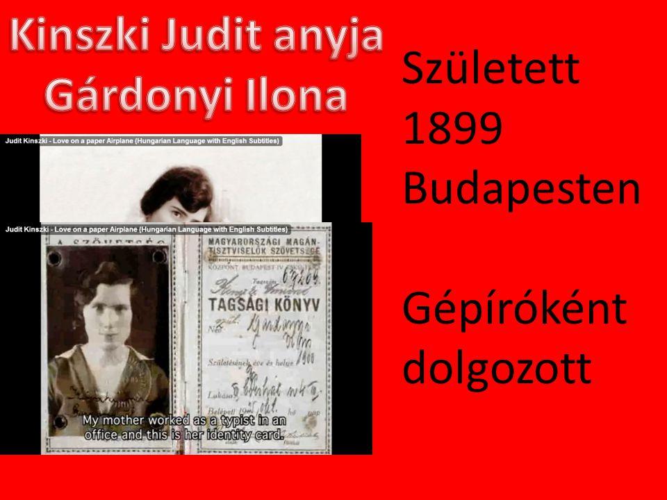 Született 1899 Budapesten Gépíróként dolgozott