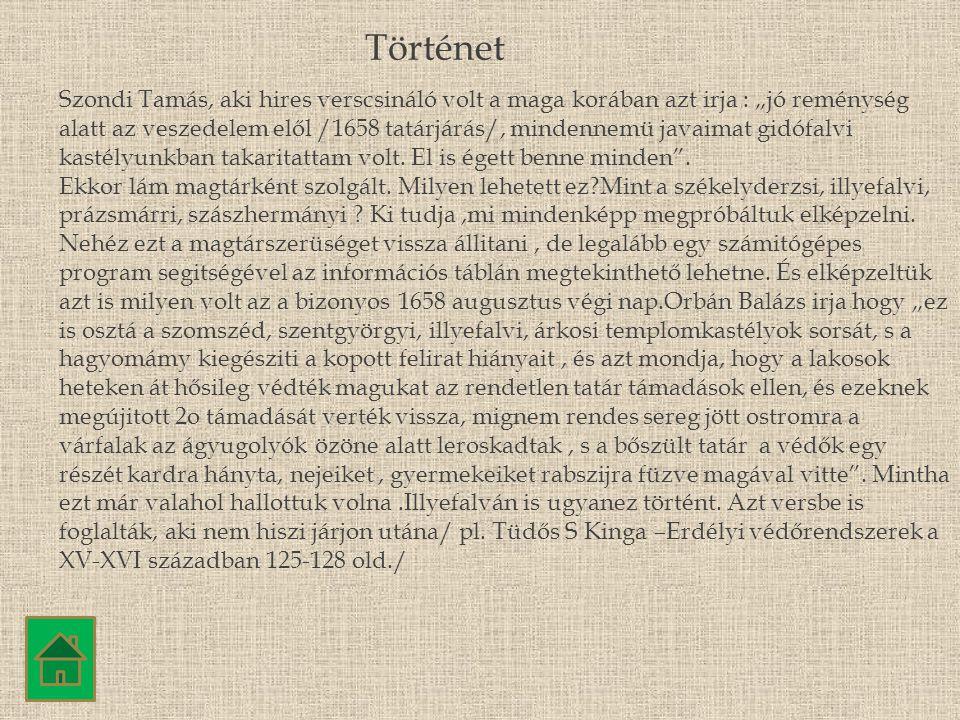 """Szondi Tamás, aki hires verscsináló volt a maga korában azt irja : """"jó reménység alatt az veszedelem elől /1658 tatárjárás/, mindennemü javaimat gidóf"""
