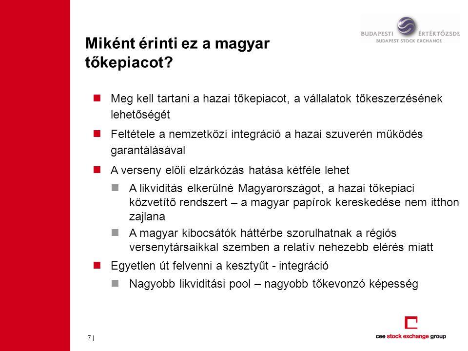 Miként érinti ez a magyar tőkepiacot? 7 |  Meg kell tartani a hazai tőkepiacot, a vállalatok tőkeszerzésének lehetőségét  Feltétele a nemzetközi int