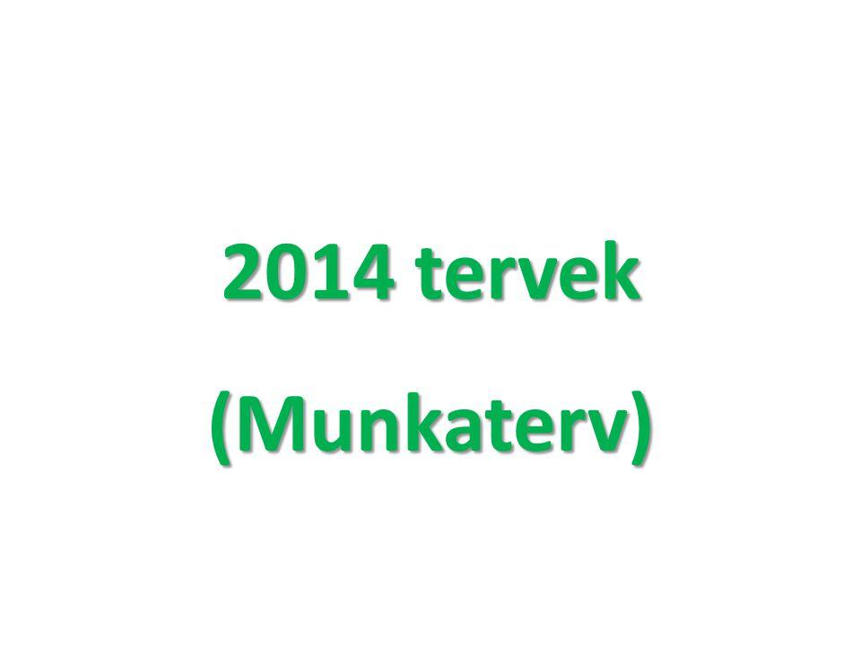 2014 tervek (Munkaterv)
