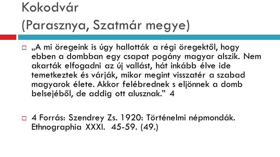 """Kokodvár (Parasznya, Szatmár megye)  """"A mi öregeink is úgy hallották a régi öregektől, hogy ebben a dombban egy csapat pogány magyar alszik. Nem akar"""