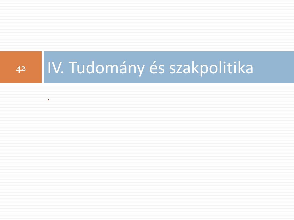 . IV. Tudomány és szakpolitika 42