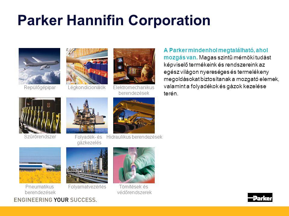 Parker Hannifin Corporation A Parker mindenhol megtalálható, ahol mozgás van.