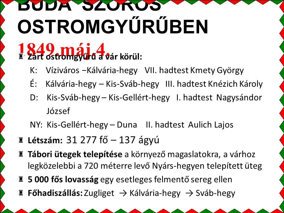 BUDA SZOROS OSTROMGYŰRŰBEN 1849.máj.4.