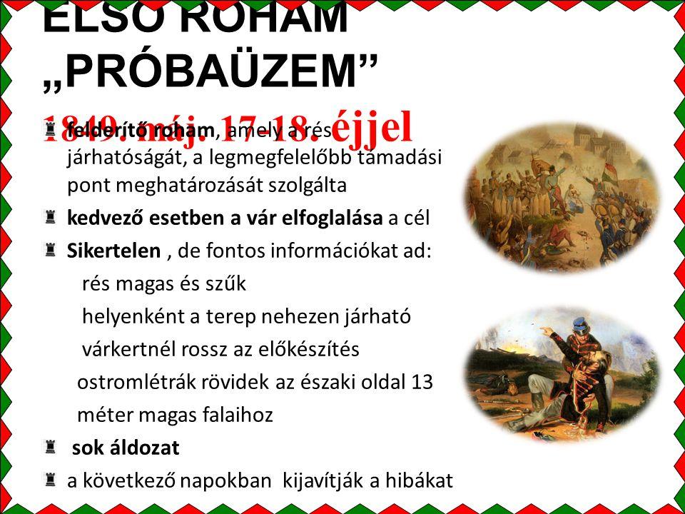 """ELSŐ ROHAM """"PRÓBAÜZEM 1849.máj. 17-18."""
