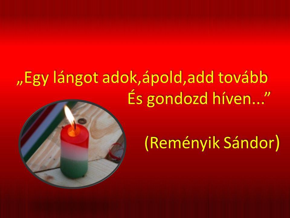 """""""Egy lángot adok,ápold,add tovább És gondozd híven... (Reményik Sándor ) """"Egy lángot adok,ápold,add tovább És gondozd híven... (Reményik Sándor )"""