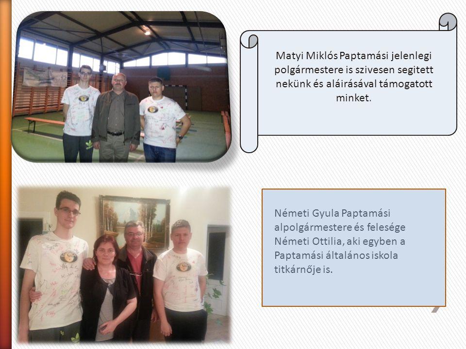 Szabó Ödön parlamenti képviselő úr is úgy döntött, hogy aláirja pólóinka, támogatva minket versenyünkben. Csapatunk kabala állata még nem hajlandó tel