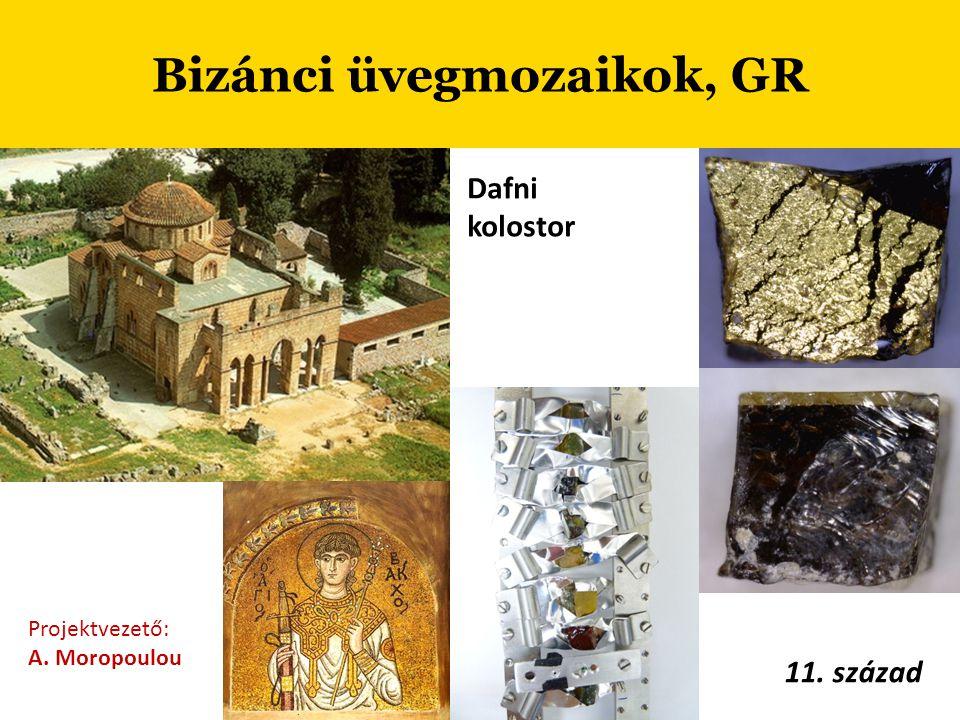 Bizánci üvegmozaikok, GR Projektvezető: A. Moropoulou 11. század Dafni kolostor