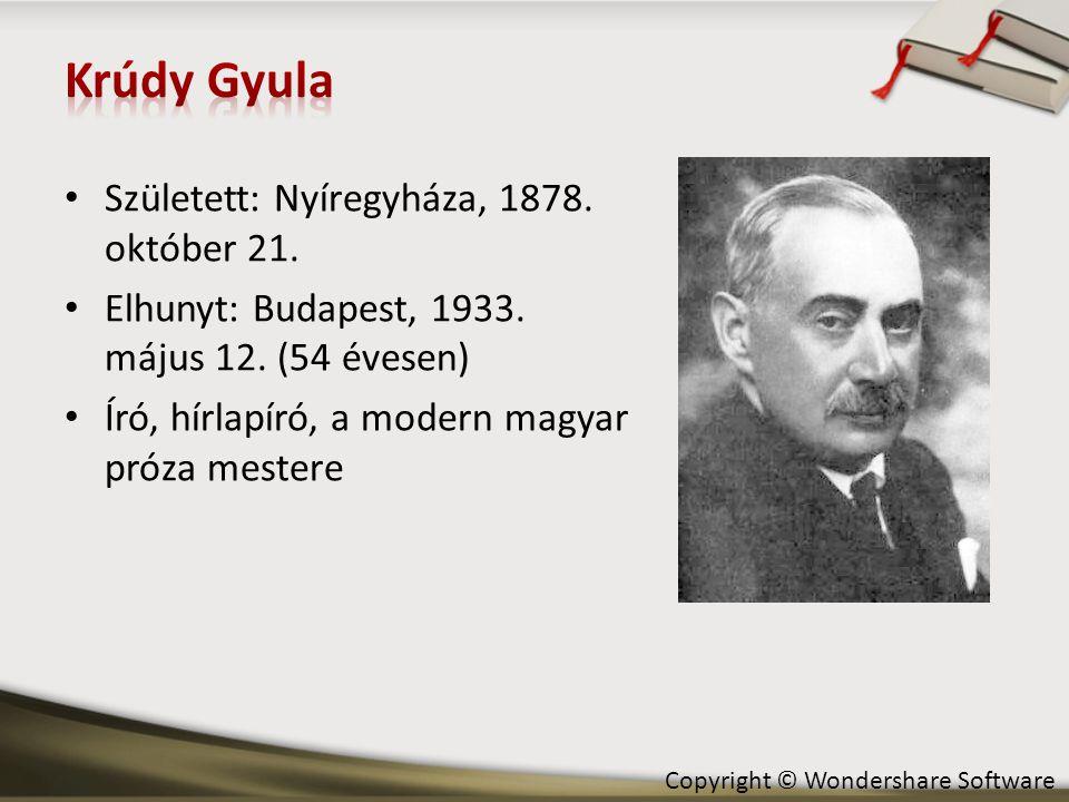 • Született: Nyíregyháza, 1878. október 21. • Elhunyt: Budapest, 1933. május 12. (54 évesen) • Író, hírlapíró, a modern magyar próza mestere