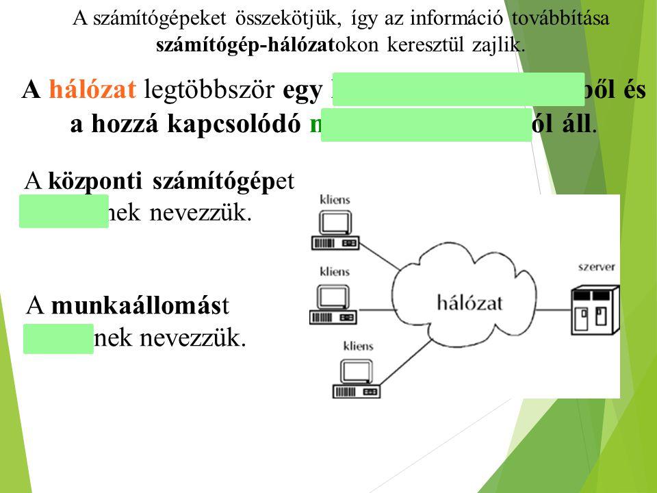 Adatátviteli sebesség és a protokoll  A hálózaton az adatok átviteli sebességét bit per sec (bps)-ban mérik.