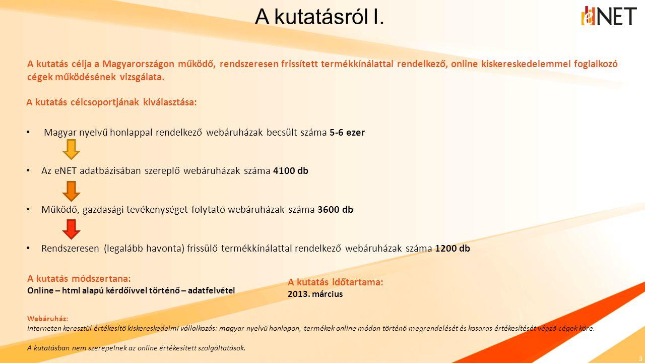 4 Mind az eNET, mind pedig az Árukereső.hu számára ez a szegmens jelenti a magyarországi online kiskereskedelem fejlődése szempontjából legfontosabb réteget, ezért 2013-ban a szinergikus hatások kihasználása végett piackutatási együttműködést kötött.
