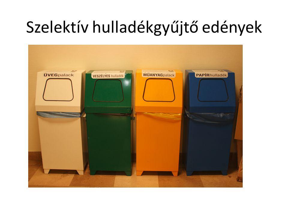 Szelektív hulladékgyűjtő edények