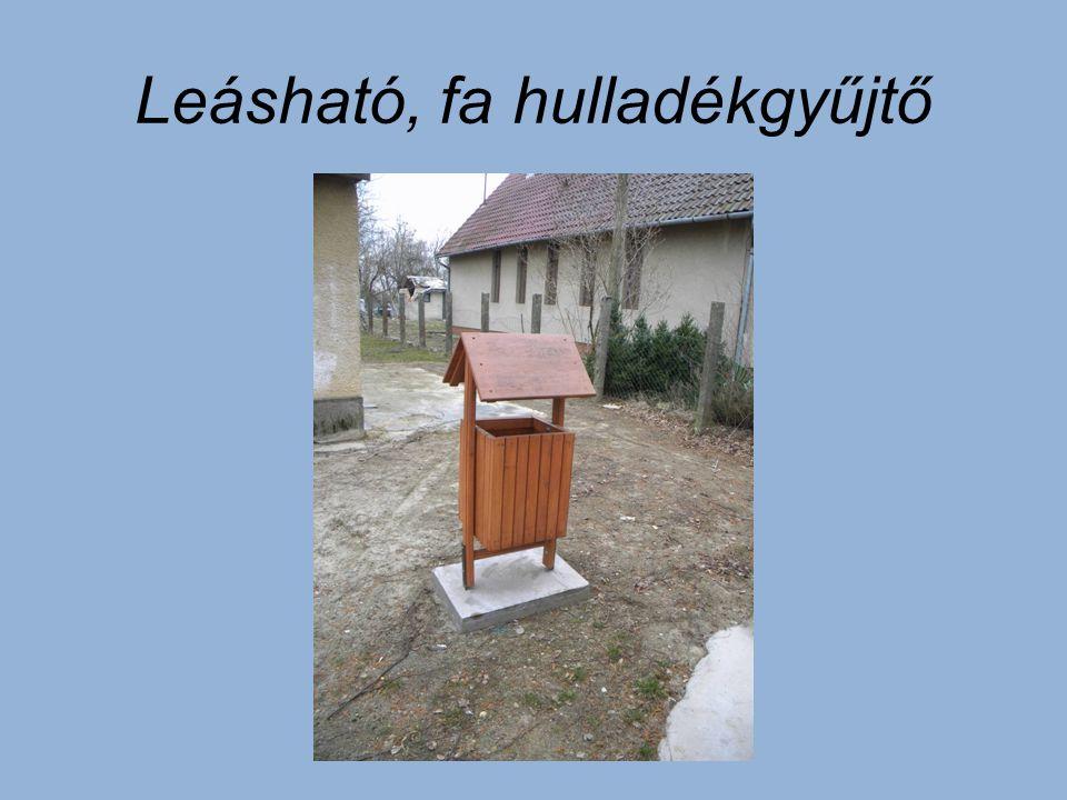 Leásható, fa hulladékgyűjtő