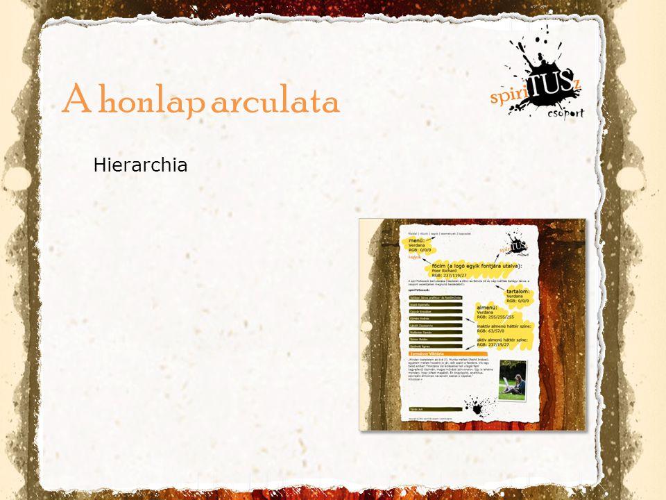 Hierarchia A honlap arculata