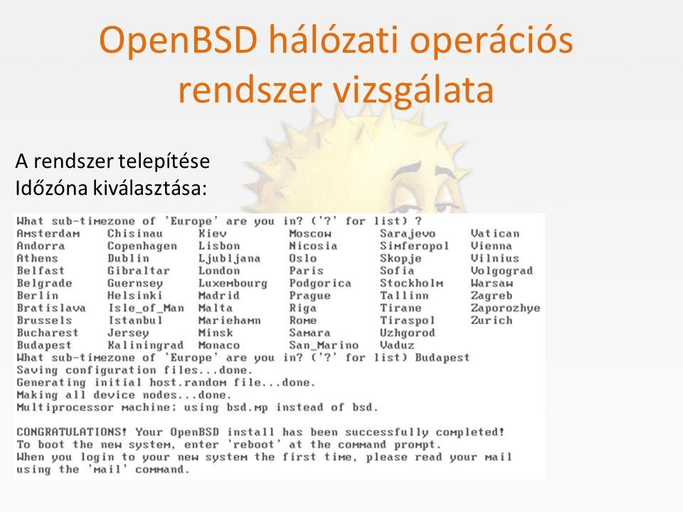 OpenBSD hálózati operációs rendszer vizsgálata Partícionálás és fájlrendszer Két szintje van a partícionálásnak: A felső szinten úgynevezett Operációs Rendszer partícionálást hajtunk végre.