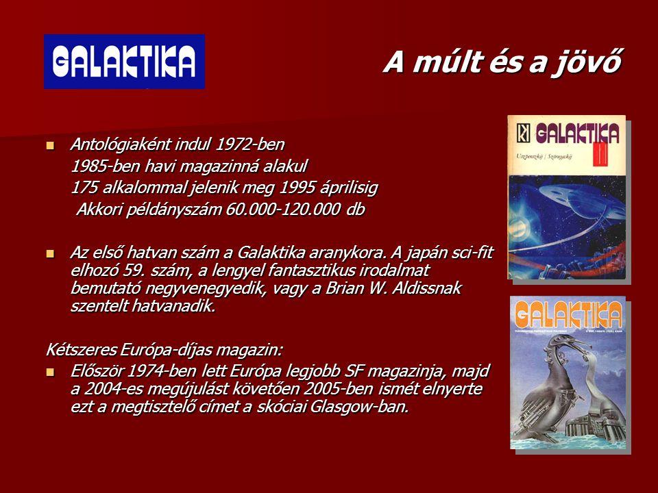 A múlt és a jövő  Antológiaként indul 1972-ben 1985-ben havi magazinná alakul 175 alkalommal jelenik meg 1995 áprilisig Akkori példányszám 60.000-120
