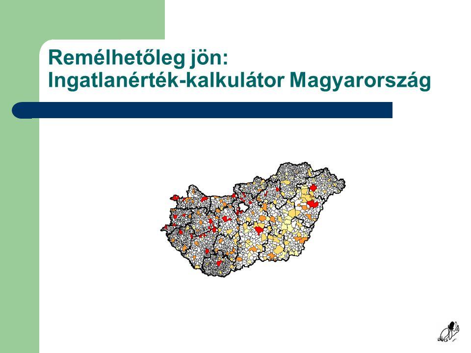 Remélhetőleg jön: Ingatlanérték-kalkulátor Magyarország