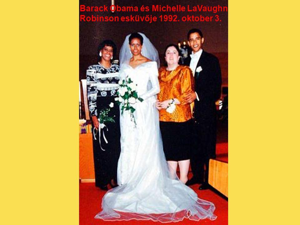 Barack Obama és Michelle LaVaughn Robinson esküvője 1992. oktober 3.