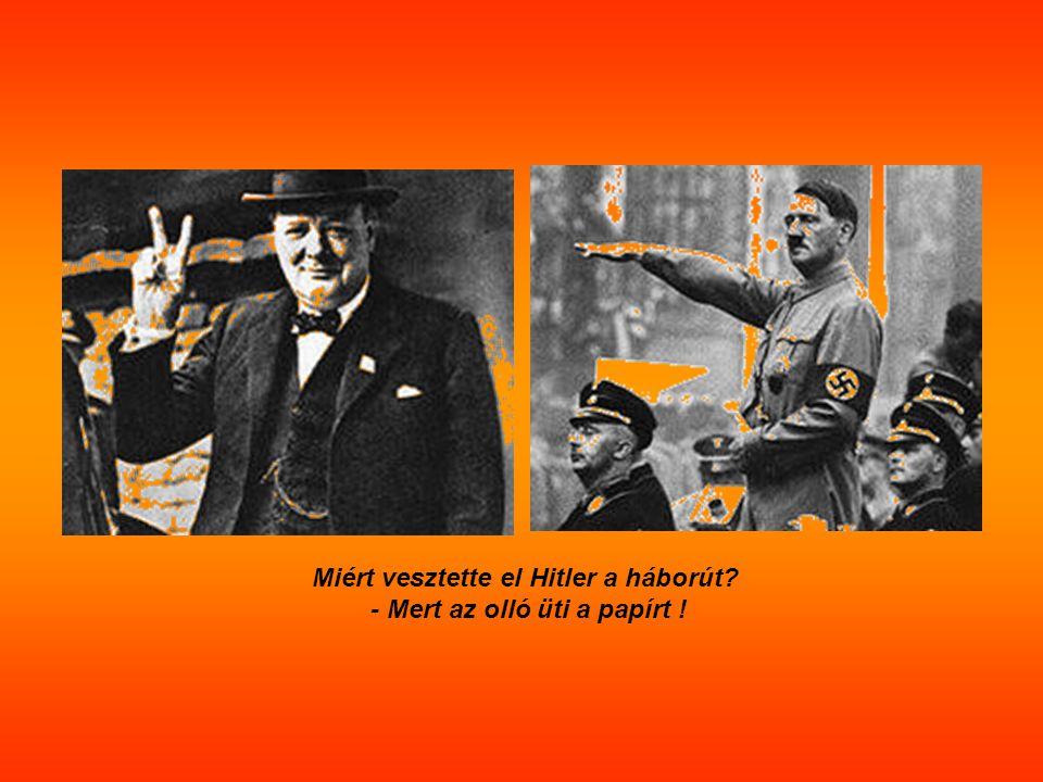 Miért vesztette el Hitler a háborút? - Mert az olló üti a papírt !