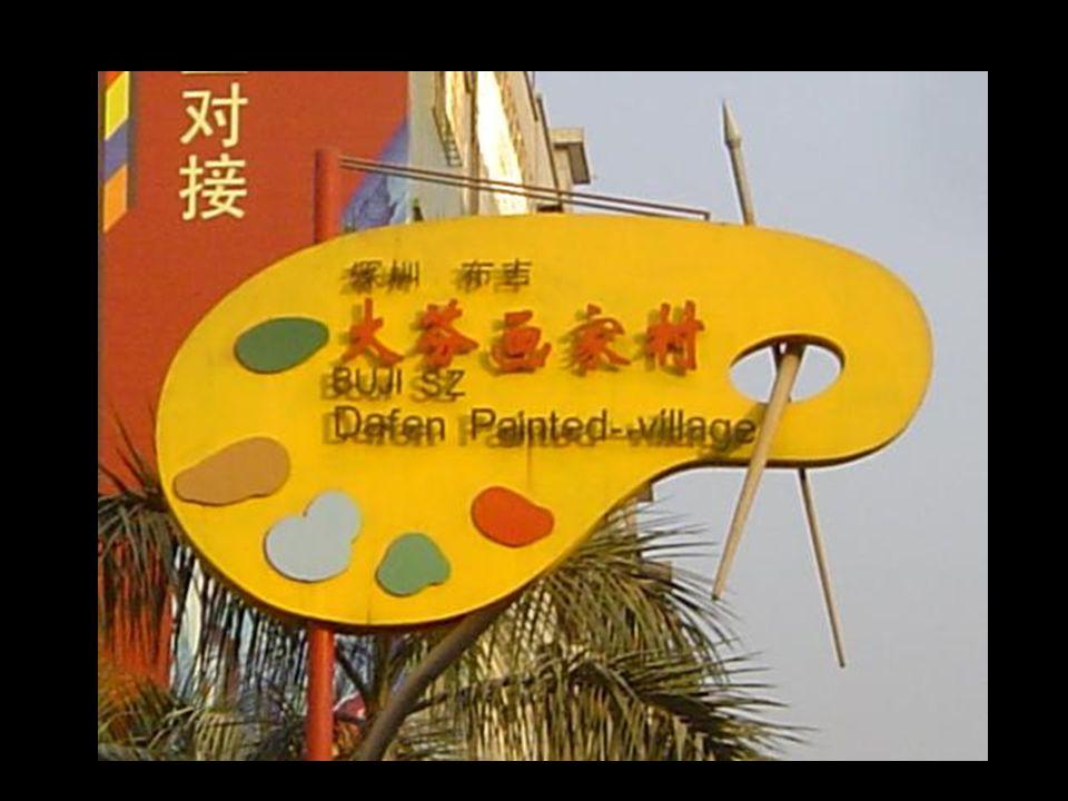 """A """"Festők városa"""" alapítója Huang Jiang éleseszű vállalkozó volt aki 1989-ben érkezett Dafen-be, egy nyugalmas helyet keresve, ahol nagy megrendelések"""