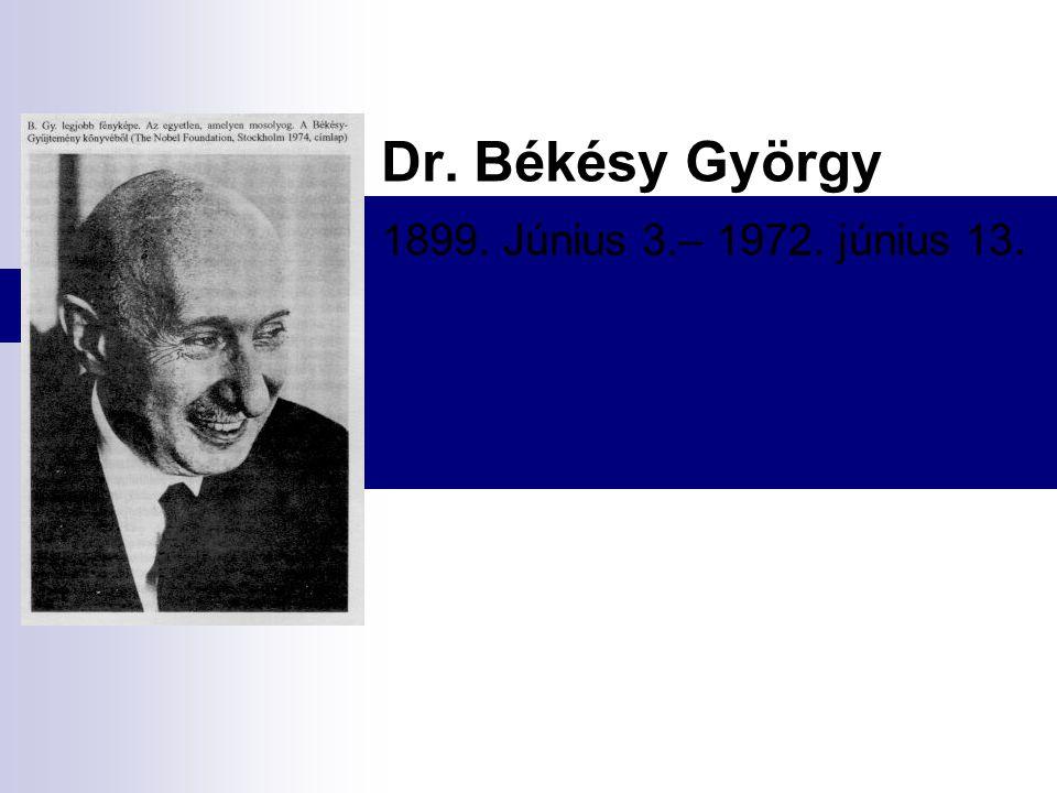 Dr. Békésy György 1899. Június 3.– 1972. június 13.