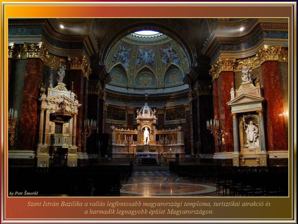 Szent István Bazilika – Uj Klasszikus stílusú épület, több mint 50 évig tartó építés után 1905-ben készült el.