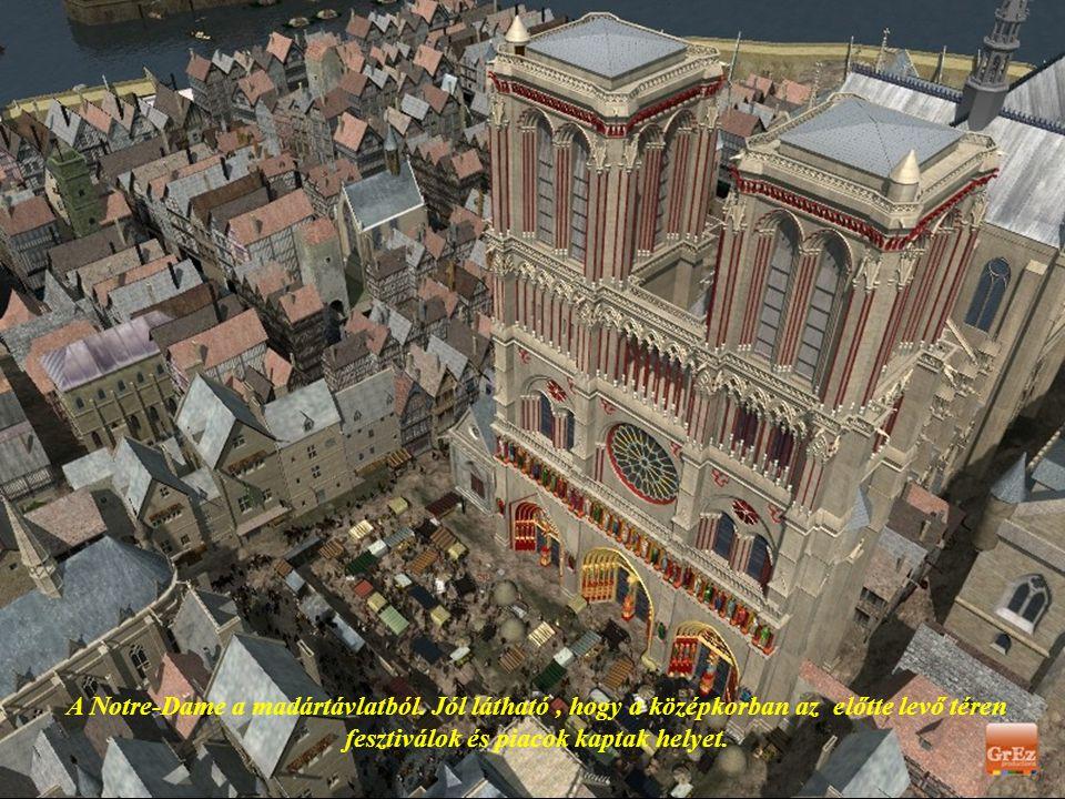 A lenyűgöző Notre Dame katedrális eredetileg valószínű sokszínű volt, de a színeket a szerzők sajnos nem tudták egyértelműen felkutatni, ezért ezt a k