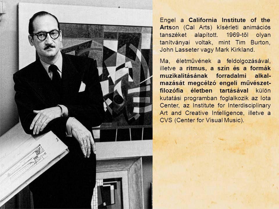 Engel a California Institute of the Artson (Cal Arts) kísérleti animációs tanszéket alapított. 1969-től olyan tanítványai voltak, mint Tim Burton, Joh