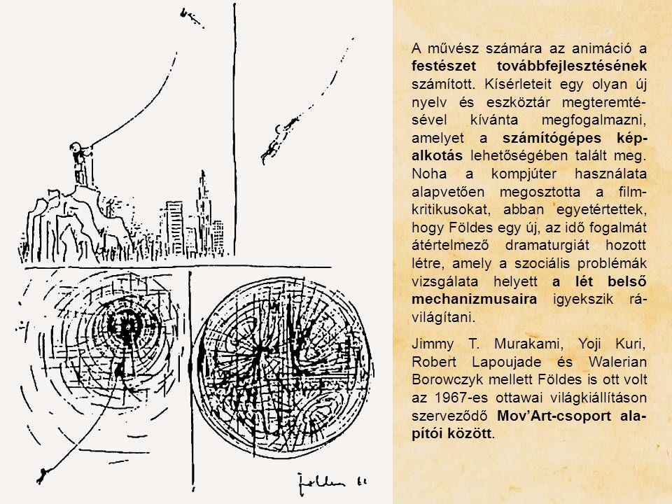A művész számára az animáció a festészet továbbfejlesztésének számított. Kísérleteit egy olyan új nyelv és eszköztár megteremté- sével kívánta megfoga