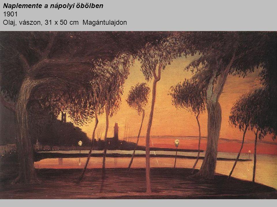 Naplemente a nápolyi öbölben 1901 Olaj, vászon, 31 x 50 cm Magántulajdon