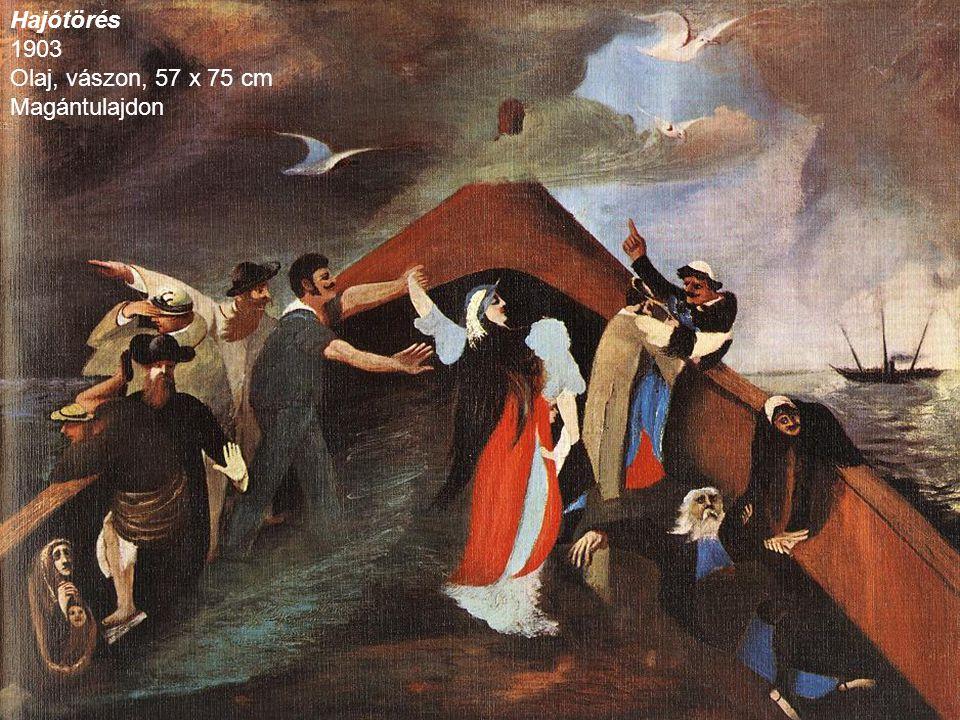 Hajótörés 1903 Olaj, vászon, 57 x 75 cm Magántulajdon