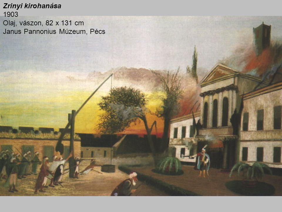 Zrinyi kirohanása 1903 Olaj, vászon, 82 x 131 cm Janus Pannonius Múzeum, Pécs