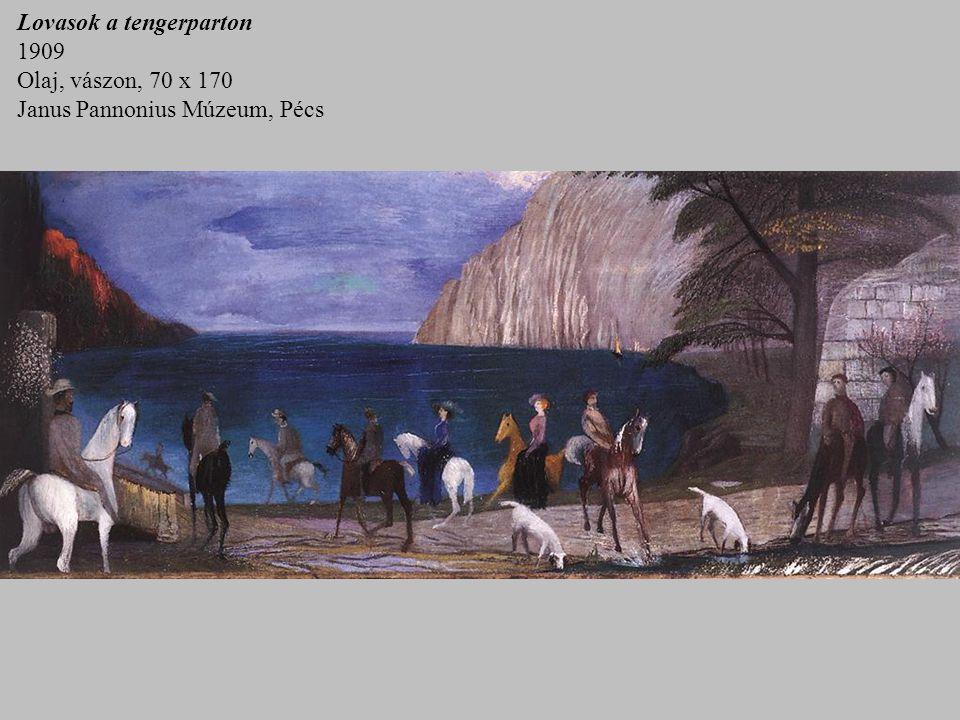 Lovasok a tengerparton 1909 Olaj, vászon, 70 x 170 Janus Pannonius Múzeum, Pécs