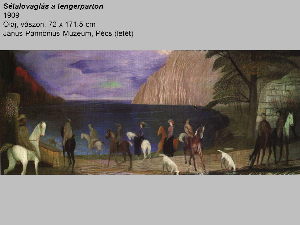 Sétalovaglás a tengerparton 1909 Olaj, vászon, 72 x 171,5 cm Janus Pannonius Múzeum, Pécs (letét)