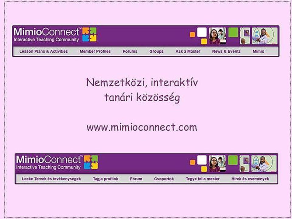 Ez a weboldal a mimio felhasználók kincsesbányája.