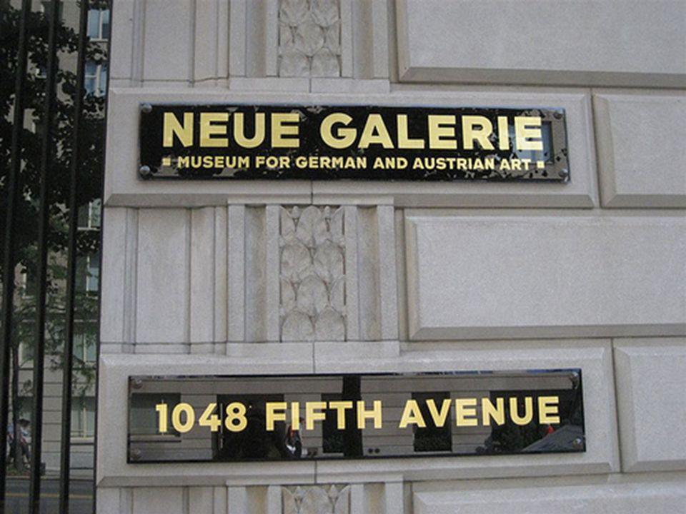 """New York - """"Neue Galerie A képtár, mely Manhattan szigetén egy 1914-ben épült neoklasszicista városi villában található, a XX."""