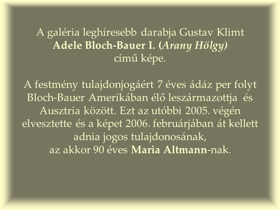 """A per """"tárgya : Adele Bloch- Bauer I. 1902"""