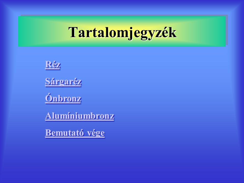Szabványos sárgarezek 3.