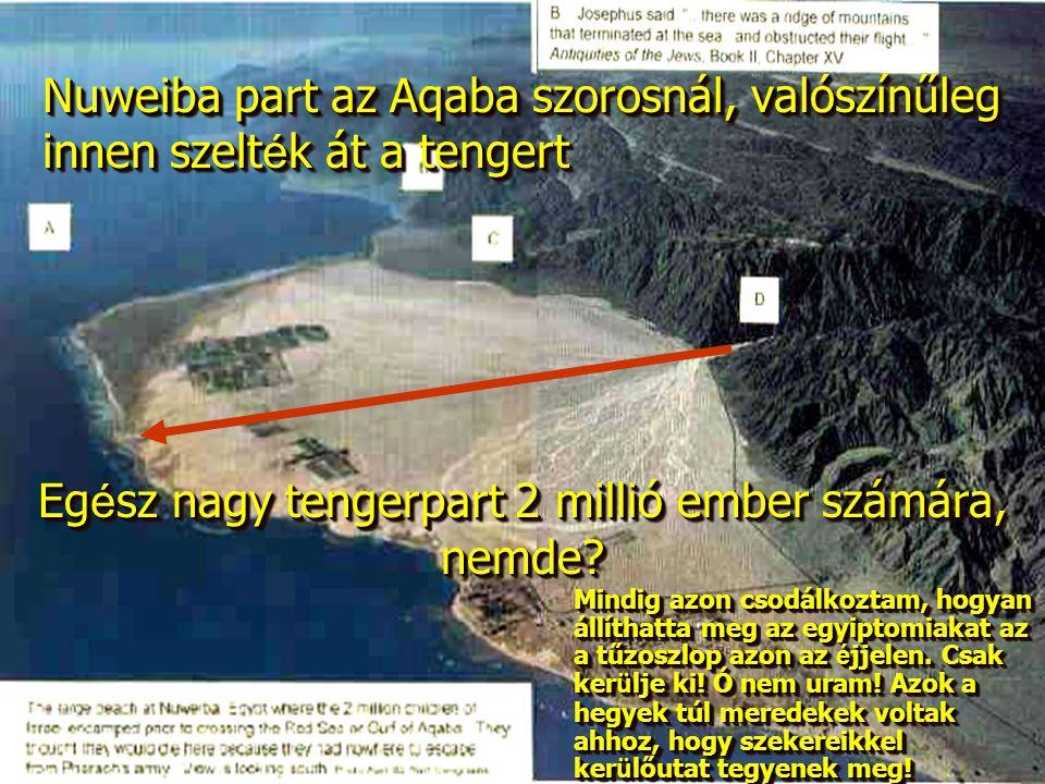Nuweiba part az Aqaba szorosnál, valószínűleg innen szelt é k át a tengert Eg é sz nagy tengerpart 2 millió ember számára, nemde.