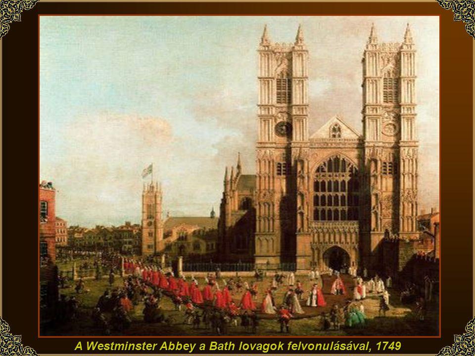 London: A Warwick kastély déli oldala, 1748