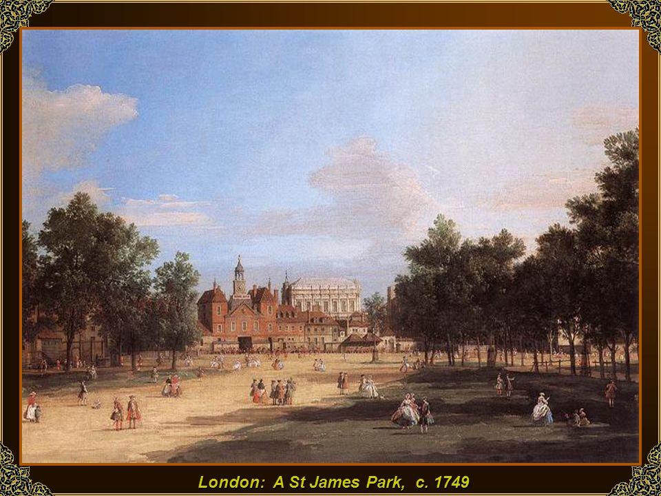 A Westminster Abbey a Bath lovagok felvonulásával, 1749